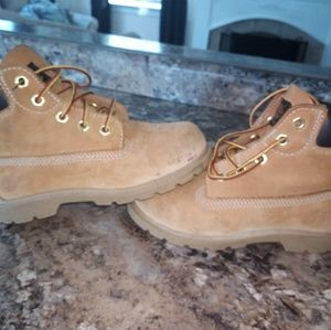 Boys timberland boots wheat size 12